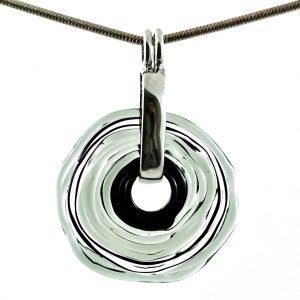 Wechselschmuck - Moderne graue Kette aus Muranoglas - handmade Geschenk