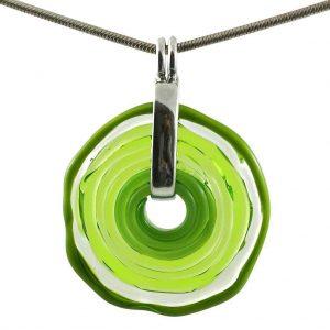 Wechselschmuck - Moderne hellgrüne Kette aus Muranoglas - handmade Geschenk