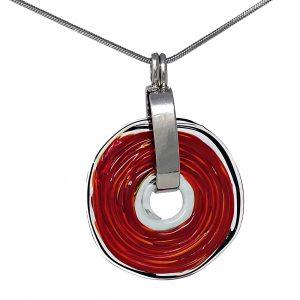 Wechselschmuck - Moderne rote Kette aus Muranoglas - handmade Geschenk