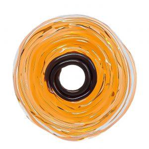 Wechselschmuck von colorano - Moderne Scheibe in Amber aus Muranoglas - handmade Geschenk