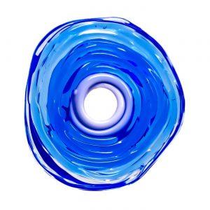 Wechselschmuck von colorano - Moderne Scheibe in Blau aus Muranoglas - handmade Geschenk