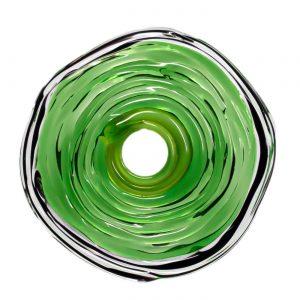 Wechselschmuck von colorano - Moderne Scheibe in Dunkelgrün aus Muranoglas - handmade Geschenk