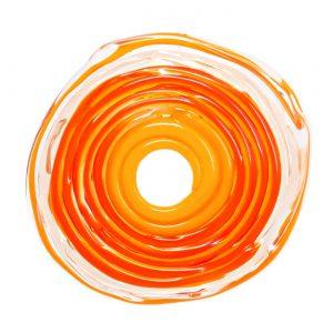 Wechselschmuck von colorano - Moderne Scheibe in Orange aus Muranoglas - handmade Geschenk