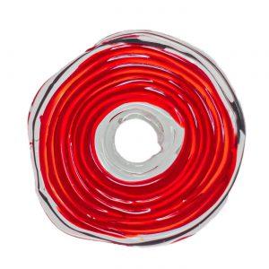 Wechselschmuck von colorano - Moderne Scheibe in Rot aus Muranoglas - handmade Geschenk