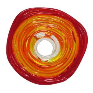 Wechselschmuck von colorano - Moderne Scheibe in Rottoene aus Muranoglas - handmade Geschenk